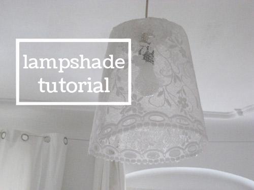 bioplastik lampshade - recipe and tutorial