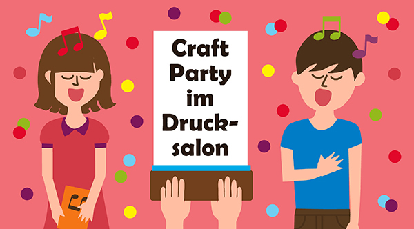 craft party flyer
