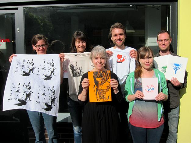 ein Bild von unserem Siebdruckkurs in Berlin